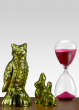 Pink Hourglass, Lime Bird & Rabbits