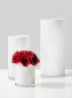 White Glass Cylinder Vases