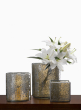 Mosaic Glass Tile & Crackled Glass Vases