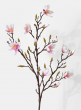 pink magnolia silk flowers for wedding event decor