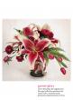 garnet glory lily tulip aster spring easter floral arrangement