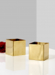 square gold metal vase wedding event christmas party centerpieces