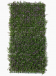 fake purple boxwood mat wedding event backdrop display