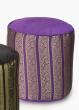 Black, Purple, & Gold Jacquard Poufs