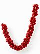 mercury glass look red Christmas ornament ball garland