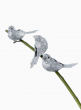 silver glitter birds christmas tree ornaments