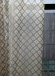 44 x 90in Silver Sheer Diamond Silk Organza Panel