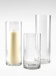 6x12-, 6x16-, & 6x18-inch Clear Glass Cylinder Vases