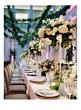 wedding reception boxwood garland decor centerpieces
