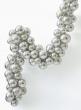 vintage look silver Christmas ornament ball garland