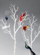 30in White Glitter Branches