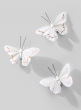 white butterflies with glitter christmas ornaments