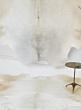 white genuine cowhide leather carpet home decor