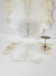 white cowhide leather rug living room bedroom decor