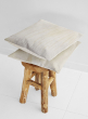 white cowhide leather pillow home decor