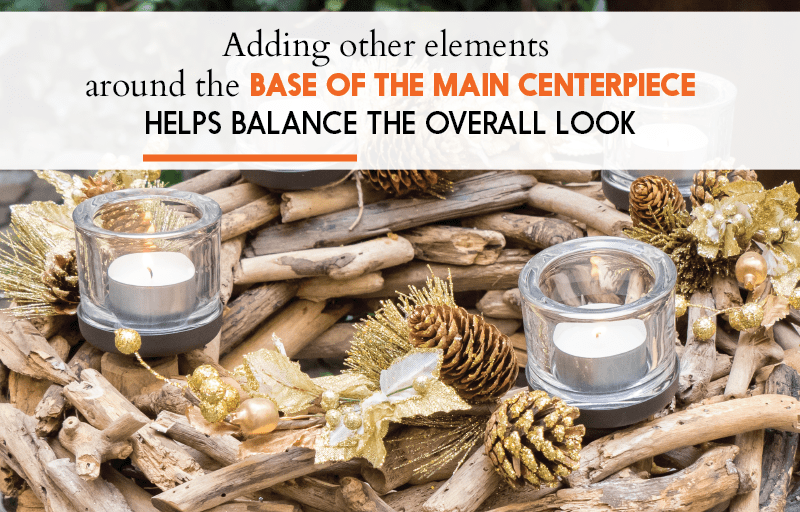 Elements for Christmas Centerpieces